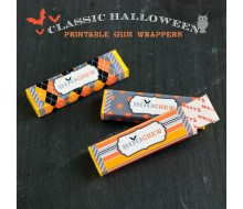 Classic Halloween Design Kit - Printable Gum Pack Wrappers - Instant Download